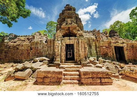 One Of Entrances To Ancient Ta Som Temple, Angkor, Cambodia