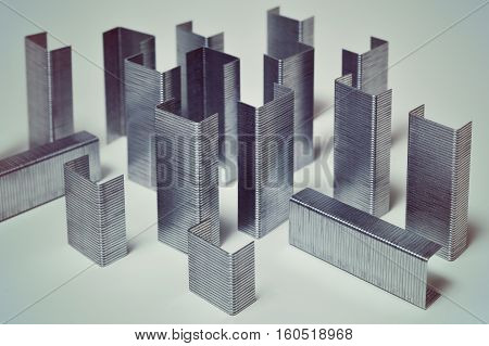 concept idea, of cityscape of office staples
