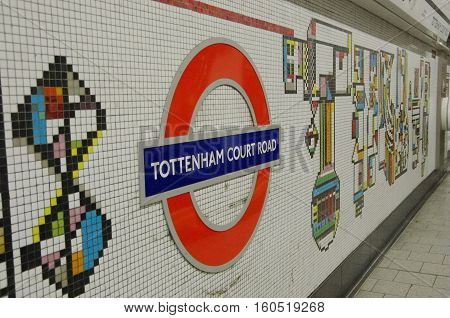 Colourful Mosaic Decoration Of Tottenham Underground Station