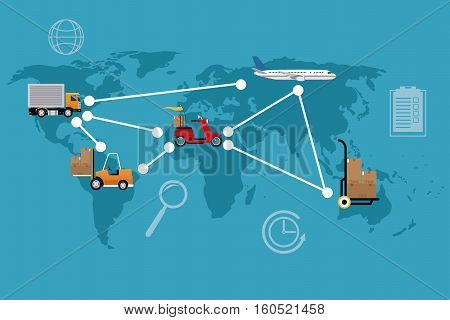 delivery concept different transport international vector illustration eps 10