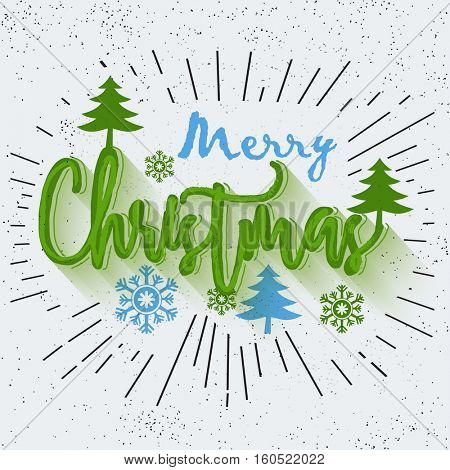 Beautiful text Merry Christmas in Doodle Style, Merry Christmas celebration Poster or Banner Design.