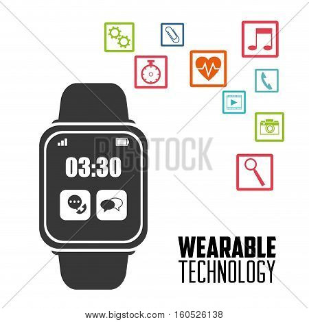 smart watch device portable wearable technology vector illustration eps 10