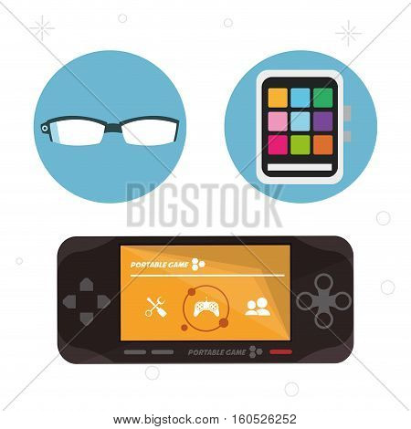 wearable technology portable devices collection vector illustration eps 10