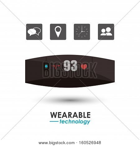 smart watch healthcare wearable technology vector illustration eps 10