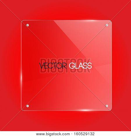 Glass square frame vector illustration
