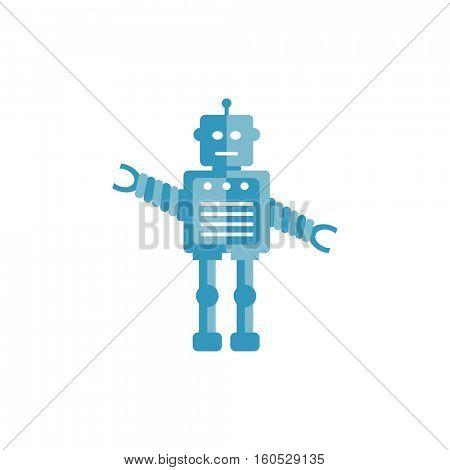 Robot icon illustration on a white background
