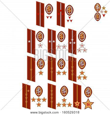 Insignia of the USSR State Security 1937-1939 the military. The illustration on a white background.