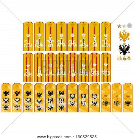 Insignia retinue of His Imperial Majesty Russia. The illustration on a white background.