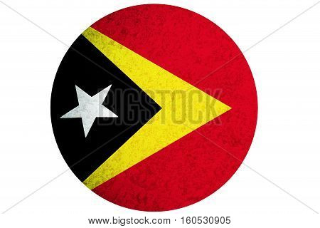 Timor Leste flag ,3D East Timor national flag illustration symbol.