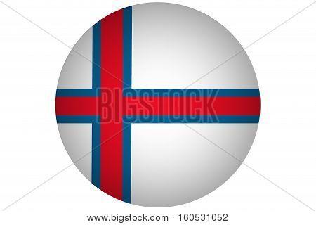 Faroe islnads flag ,3D Faroe islnads national flag illustration symbol.