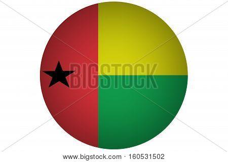 Guinea Bissau  flag ,3D Guinea Bissau national flag illustration symbol.