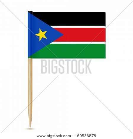 South Sudan flag toothpick  isolated on white background 10eps