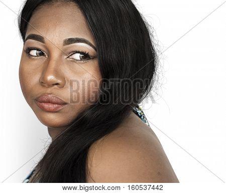 Lonely Woman Sad Boredom Expression Concept