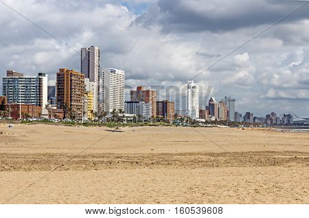 Golden Mile Beach Front In Durban South Africa
