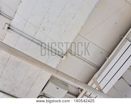 Cable Tray and Conduits on the ceiling