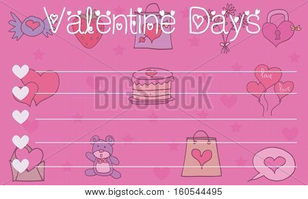 Collection stock valentine greeting card vector illustration