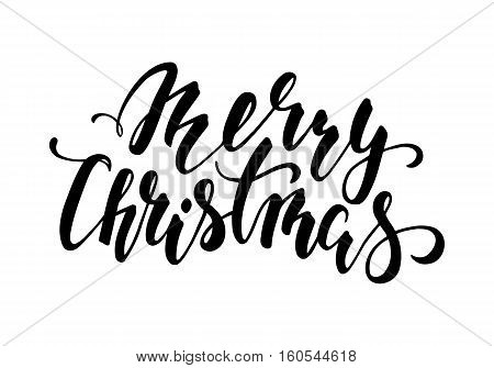Merry Christmas. Hand drawn creative calligraphy and brush pen lettering. design for holiday greeting cards and invitations of the Merry Christmas and Happy New Year and seasonal holidays. vector