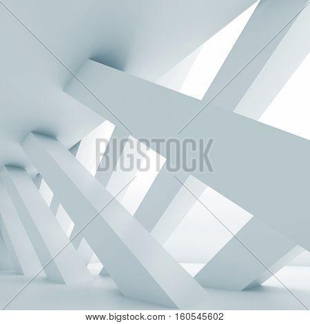3 D Diagonal Columns, Interior Background