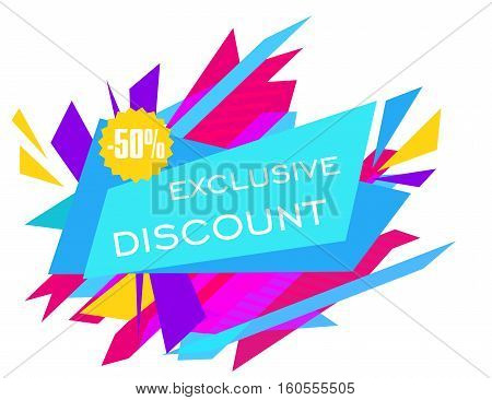 Limited Offer Mega Sale geometrical ultra modern banner. Sale poster. Big sale, special offer, discounts Vector illustration