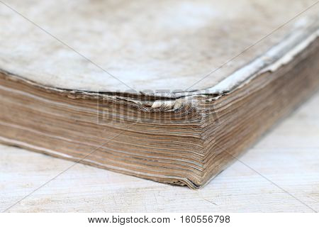Dog-ears of the pages of old book - Shallow depth of field