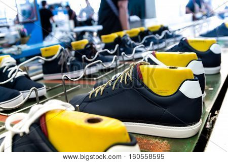 shoe making production line in footwear industry