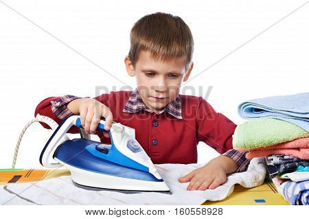 Boy Ironed Washed Linen Isolated