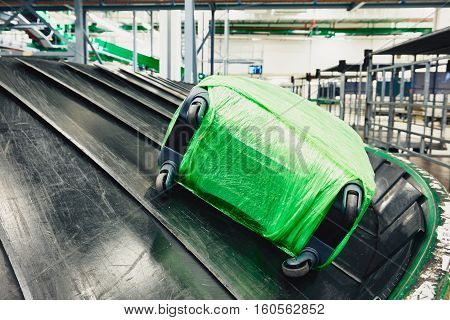 Baggage On Conveyor Belt