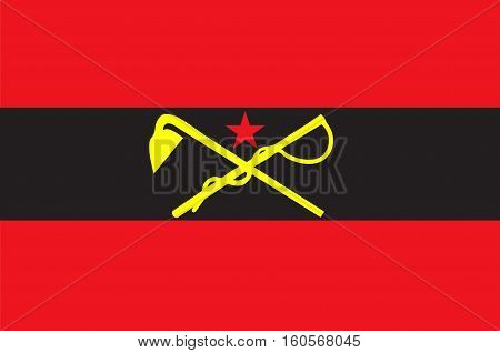 Flag of Inner Mongolia officially Inner Mongolia Autonomous Region or Nei Mongol Autonomous Region of China. Vector illustration