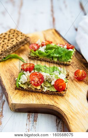 Healthy Snack From Wholegrain Rye Crackers