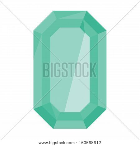 Cartoon realistic gems jewels diamond brilliant vector. Gemstone and crystal precious glass elements illustration