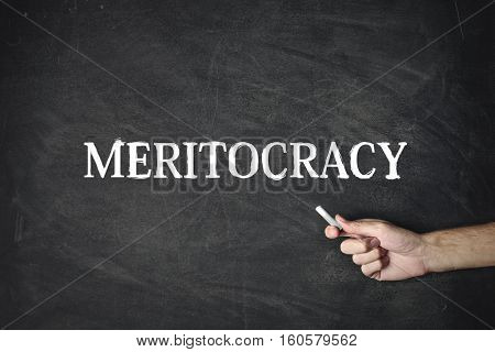 Pointing out meritocracy