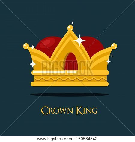 Pope or king crown or tiara. Prince or princess, queen crown icon, heraldic royalty symbol of wealth. For game award and old medieval or historical theme, game crown or king majesty, pope diadem