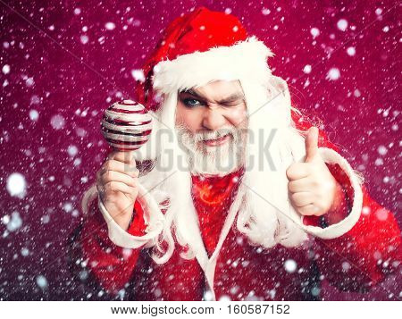 Grimace Christmas Man With Decorative Ball