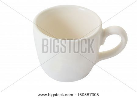 Empty cup isolated on white background and clipping path