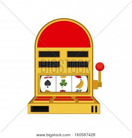 Slot machine icon. Casino las vegas game and lucky theme. Isolated design. Vector illustration