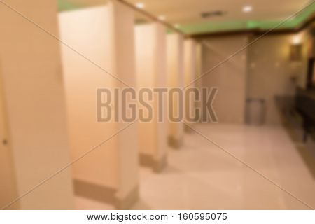 Blurred Background Of Public Restroom Toilet