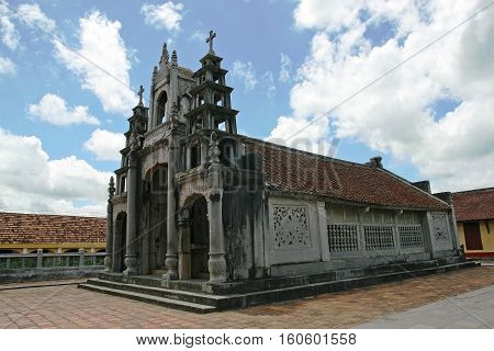 Phat Diem Stone Cathedral - one of the most famous and beautiful churches and travel destination in Vietnam. It took 24 years to build this church from 1875 to 1898