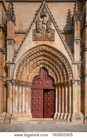 Batalha monastery, Portugal-view of the main entrance