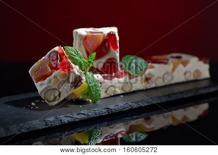 Soft Nougat With Tropical Fruit And Berries