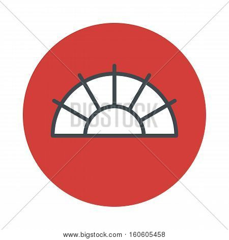 Japanese fan icon isolated on white background. Vector illustration