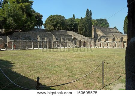 A beautiful view of Pompeii in  ITALY.