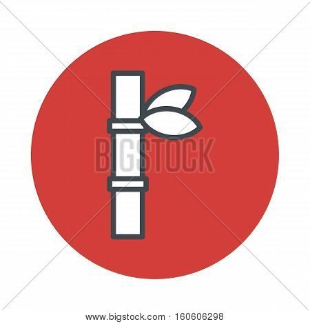 Japan bamboo icon isolated on white background. Vector illustration