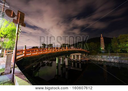 Uji River And Bridge At Night