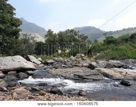 Mountain water rock nature Rayagada Orissa india