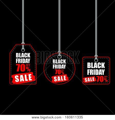Tag Of Balck Friday With Best Offer On It Color Illustration