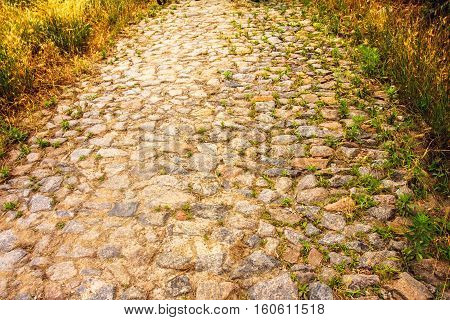 the road of stone, the old road in the city
