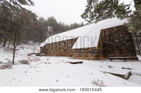 Holy christian church of Saint George at Troodos forest in Cyprus