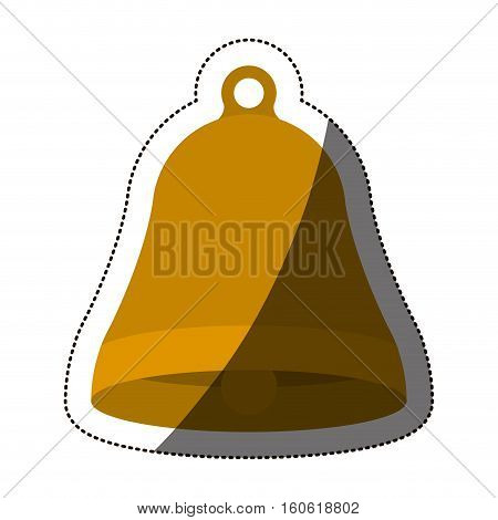 Bell icon. Ring alert alarm call and jingle theme. Isolated design. Vector illustration