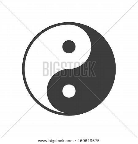 Yin yang symbol vector. Illustration in flat style.