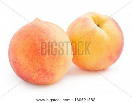 Peaches. Ripe peaches isolated on white background
